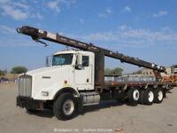 2006 Kenworth T800B Tri Axle Flatbed 41' Conveyor Truck Diesel bidadoo -Repair