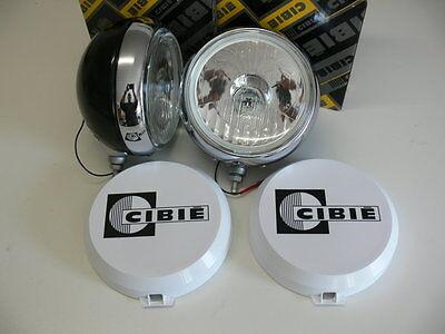 2 Stück Cibie Oscar Zusatzscheinwerfer 180mm Fernscheinwerfer mit Kappen    NEU