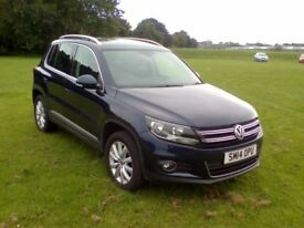 VOLKSWAGEN TIGUAN MATCH TDI BLUEMOTION TECH 4MOTION DSG (blue) 2014