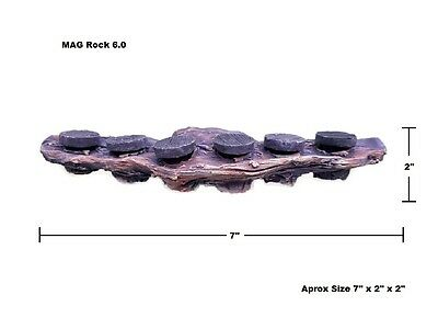 Oceans Wonders MAG Rock 6.0 Magnetic Coral Frag rack Plug Holder with 6 Plugs