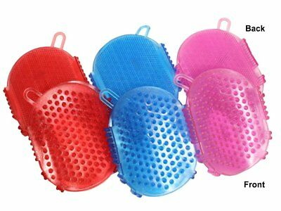 Rubber Dual Side Massage & Clean Glitter Bathing Scrub Curry Mitt for Horses