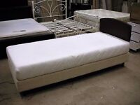 Single long 6ft adjustable electric bed with clean memory foam mattress