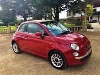 FIAT 500C 1.2 Convertible, Former keeper, FSH, MOT June 2018, Excellent All Round (red) 2010