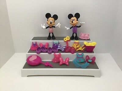 Minnie Mouse Boutique Snap On Lot Of 20 Dolls Accessories B