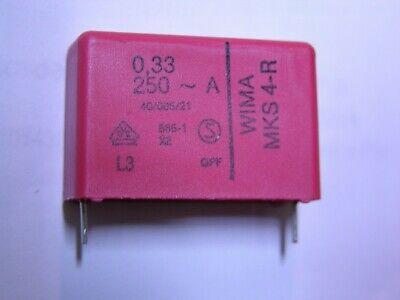10 Wima Mks4 .33uf 20 250v Polyester Film Capacitor