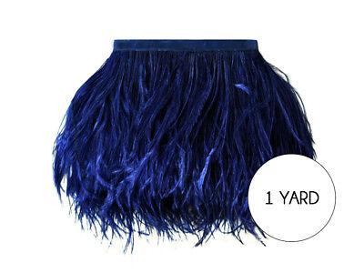 1 Yard - Navy Blue Ostrich Fringe Trim Wholesale Feather Halloween Costume - Wholesale Halloween Costume