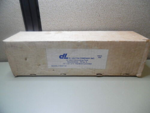 """D LILLY & CO INC DLP-12 GROUNDING PAD 12"""" X 3"""" X 1/2"""" & HARDWARE PROVIDED"""