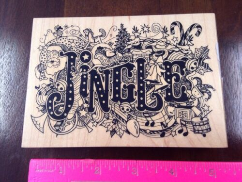 Inkadinkado JINGLE Christmas Collage bells toys musical note