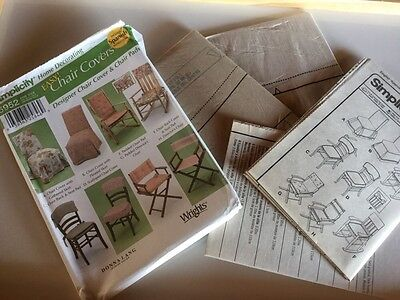 Home Decorating Easy Simplicity 5952 Donna Lang Chair Cover Pad Director's NEW - Padded Director Chair Cover