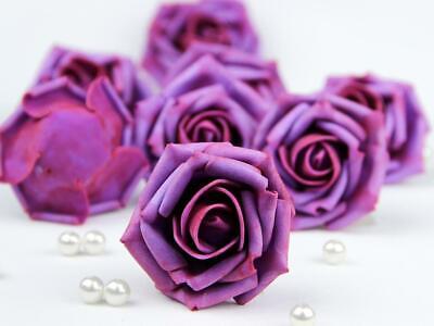 Foam Flowers (10pcs Colourfast Foam Rose Flower Heads Wedding Bouquet Party Home Decor)
