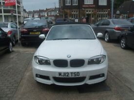 BMW 1 Series Manual Diesel 120D M SPORT CONVERTIBLE White 2012 (white) 2012