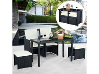 *FAST AND FREE DELIVERY* 5pc Rattan Patio Garden Furniture Set - BRAND NEW