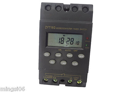 220v Timer Switch Timer Controller Lcd Displayprogrammable Timerswitch 25a Amps