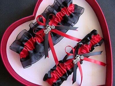 New Wedding Garters Red Black Harley Wedding Motorcycle Wedding Garter Prom  - Motorcycle Wedding Accessories