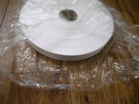 white one sided satin ribbon 25 mm width, 250 M