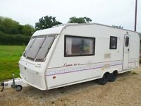 1996 Bessacarr Cameo 550 GL 4 berth caravan Twin Axle with Awning