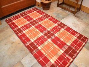 Small large orange red long hall runner kitchen floor rugs machine washable mats ebay - Orange kitchen floor mats ...