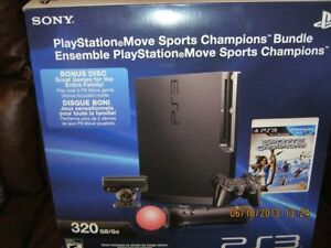 ***NEW PLAY STATION 3 - 320 GB/MOVE SPORTS CHAMPION BUNDLE****