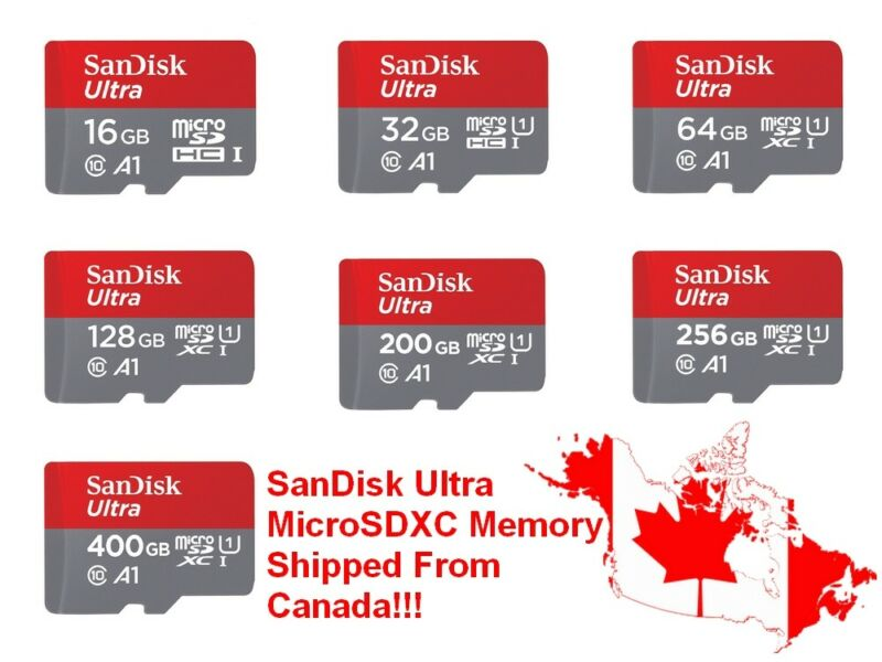 SanDisk Ultra MicroSD Micro SD SDXC SDHC MicroSDXC 100MB/s Flash Memory Card Lot