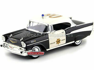 1957 Chevrolet Bel Air Hard Top Police Car 1:18 Lucky Diecast 92107
