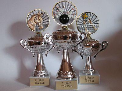 Henkel-Pokal mit Resin-Emblem und Wunschgravur (Einzelpokal oder 3er-Serie) 06
