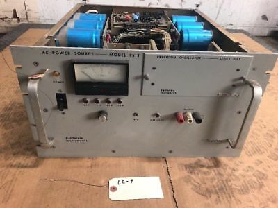 California Instruments 751t Ac Power Supply 750kva 3000w 115v In 105-135vrm Out
