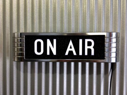 On Air RCA Radio Warning Light Up Studio Sign Chrome BLACK & WHITE Lens