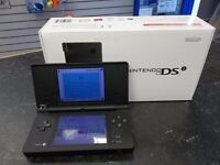 Boxed Nintendo DSi (Black) + Pokemon Pearl & 2 other games