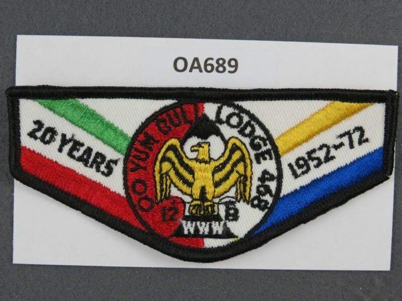 OA Lodge # 468 Oo Yum Buli 20 Years Mount Diablo   Flap [OA689]**