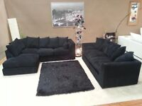 """BRAND NEW STYLISH DYLAN CORNER UNIT IN JUMBO CORD FABRIC WITH """"FAST DELIVERY"""