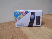 ALCATEL ONE TOUCH 10.35 FLIP PHONE DARK GREY 2G UNLOCKED.