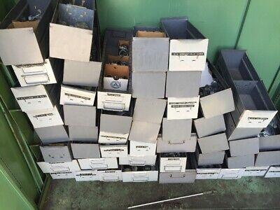 Vintage Industrial Metal Drawers Storage Parts Bin Organizer Box Equipto