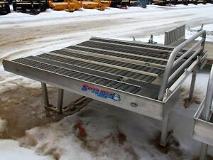 2015 Bulldog 7' Super Deck Flatdeck Snowmobile Trailer