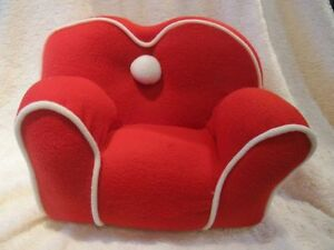 Plush Red Chair or Couch - For Bearington Bear or Doll