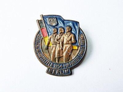 alter Anstecker 1954 FDJ  II. Deutschlandtreffen Berlin   DDR X449