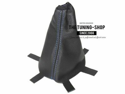 Shift Boot For Honda Fit 2006-2008 Black Leather Blue Stitch