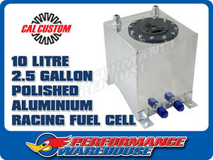 POLISHED ALUMINIUM FUEL CELL 10L / 2.5 GALLON RACE
