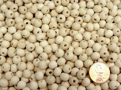 Wood Craft Beads 8mm Round Unfinished Wood 100pc