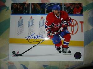 BRIAN GIONTA SIGNED MONTREAL CANADIENS 8X10 PHOTO