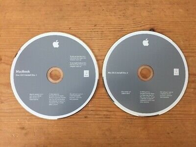 2008 2 Disc Macintosh MacBook Mac OS X Leopard 10.5.2  System Installation CD for sale  Shipping to India