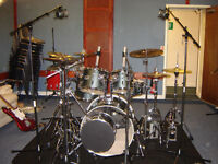 Pear Export drum kit inc all hardware, x Zildjian ZXT cymbals, bags, kit mat - Excellent condition