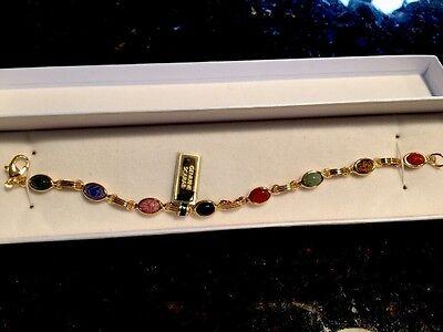 Classic 14Kt Gold-Filled Genuine Scarab Bracelet        QVC248