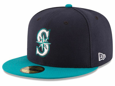 New Era Seattle Mariners Alt 59Fifty Fitted Hat  Dark Navy Teal  Mlb Cap
