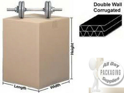 100 LARGE DOUBLE WALL CARDBOARD PACKING BOXES SIZE 18 X 18 X 18