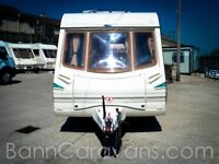 (Ref: 892) Abbey IONA VOGUE 2002 2 Berth Touring Caravan Motor Mover Included