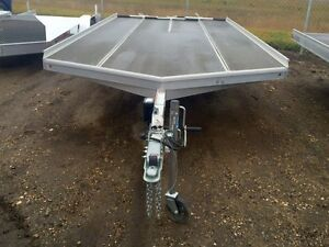 2015 Aluma Ltd. 8614D Flatdeck Snowmobile Trailer