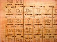 CUTTING BOARD - SOLID MAPLE -PERIODIC TABLE