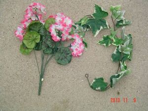 40 PCS. OF ARTIFICIAL SILK FLOWERS & GREENERY Windsor Region Ontario image 4
