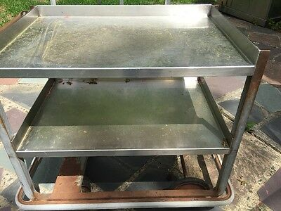 Stainless Steel Utility Cart 2 Shelves With Wheels