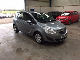 2011 Vauxhall Meriva 1.4cc Mpv low miles guaranteed cheapest in country